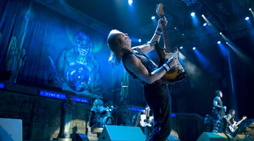 Iron Maiden tocando en Houston