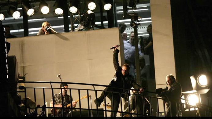 U2 en la azotea en Londres