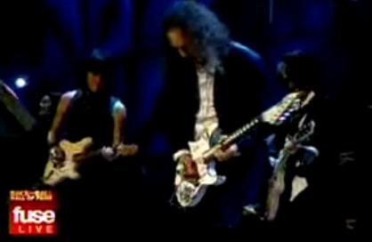 Kirk Hammet tocando con Beck