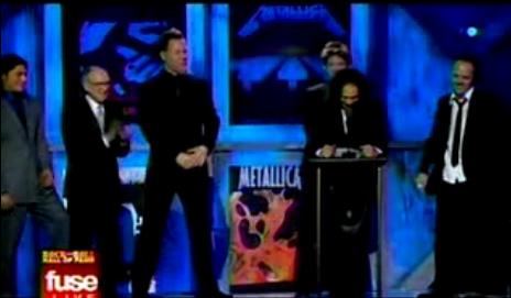 Metallica agradeciendo el reconocimiento