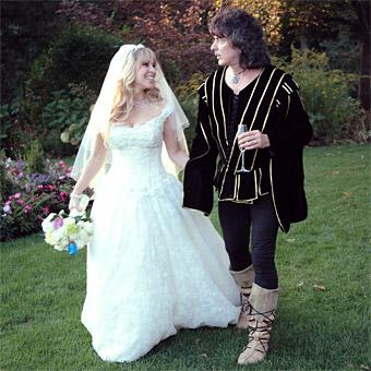 Ritchie Blackmore y Candice casándose