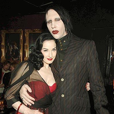 Manson y Dita Von Teese