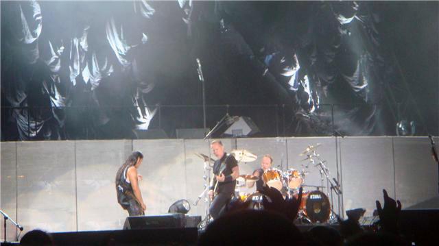 Metallica en acción en Barcelona