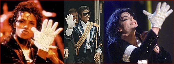 Michael Jackson y su guante blanco