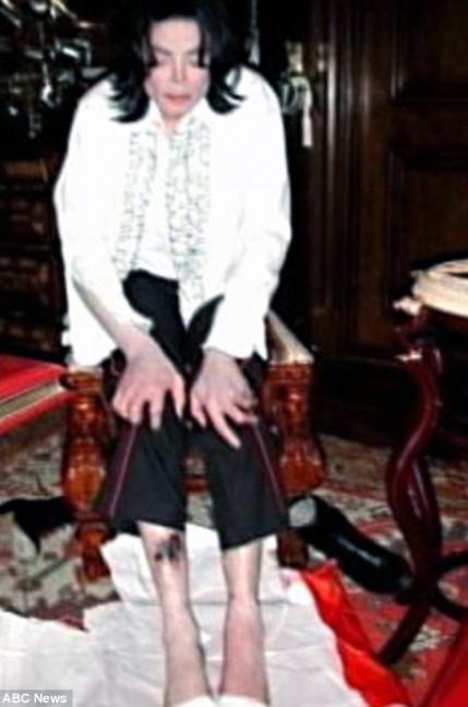 Michael Jackson en dramática imagen