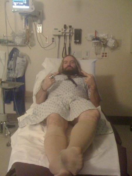 Zakk Wylde en su estancia en el hospital