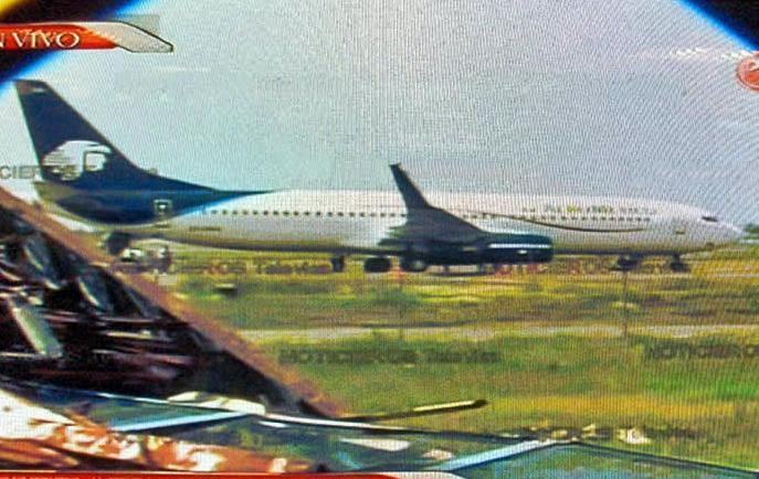 Aeronave secuestrada en el aeropuerto de México