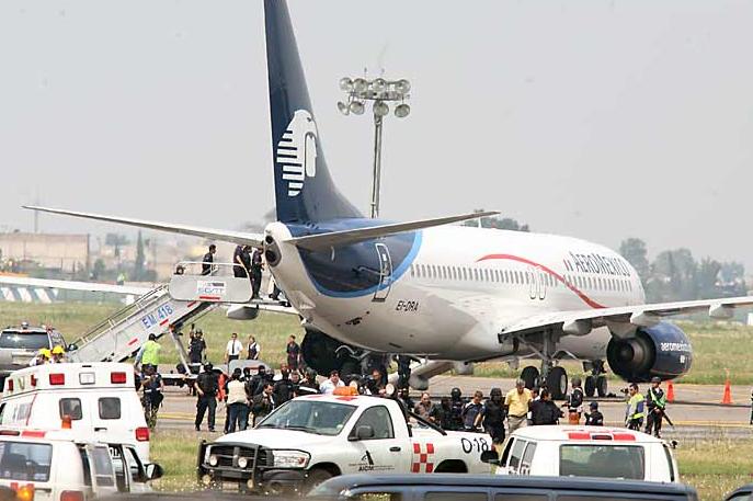 El avión de Aeroméxico secuestrado