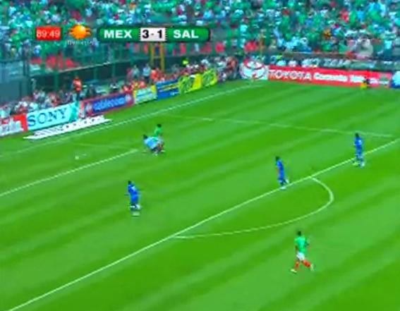 México goleó a El Salvador