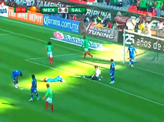 México lleva la ventaja en el partido