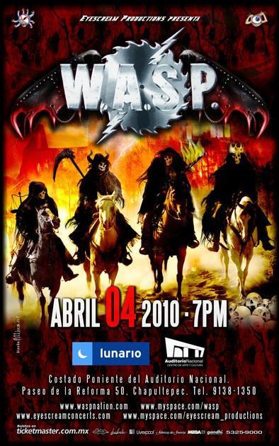 W.A.S.P. se presentará en México