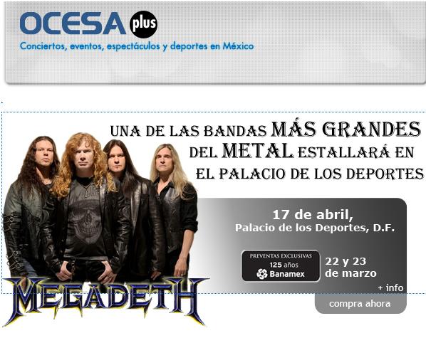 Megadeth de nuevo en México