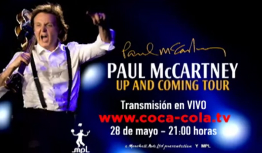 Paul McCartney en vivo desde México por Internet