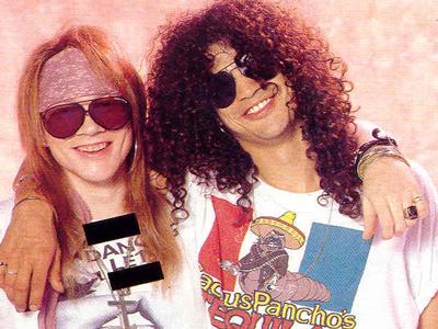 Axl Rose y Slash en los tiempos felices