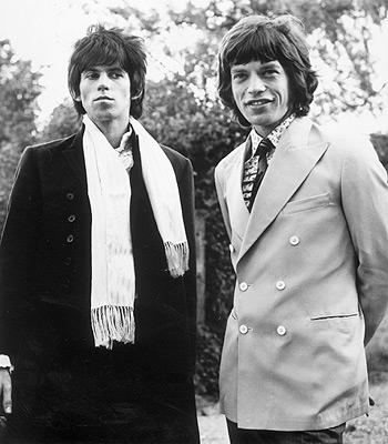 Keith Richards y Mick Jagger en sus años mozos