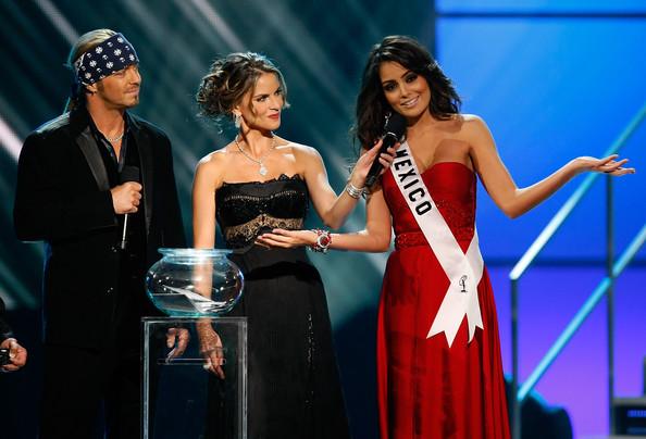 Bret Michaels y la Miss Universo Jimena Navarrete