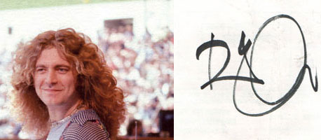 El autógrafo del cantante de Zeppelin