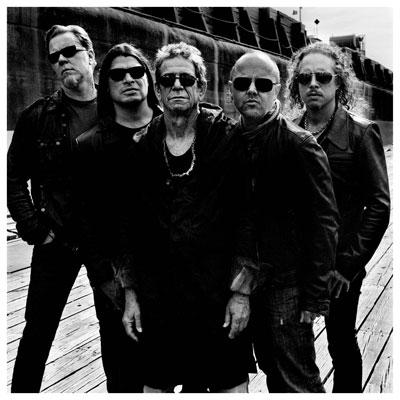 Metallica y Lou Reed haciendo arte