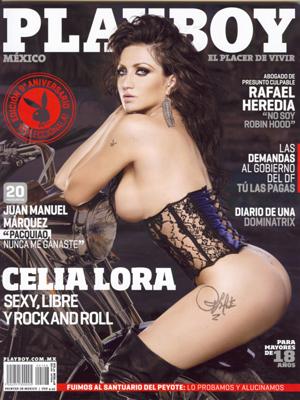 Celia Lora en una portada muy rockera