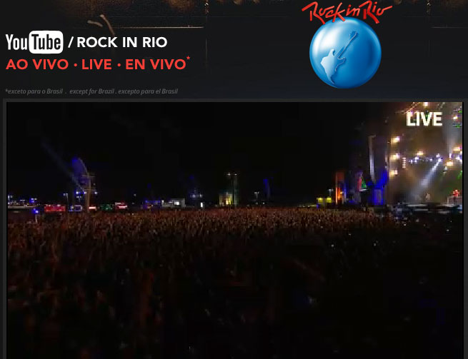 Rock in Rio en vivo por Internet