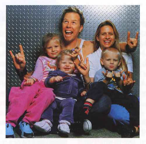 James Hetfield y su numerosa familia