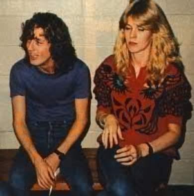 Angus Young y Ellen Van Lochem juntos desde 1980