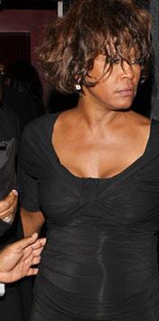Whitney Houston en una de sus últimas fotografías