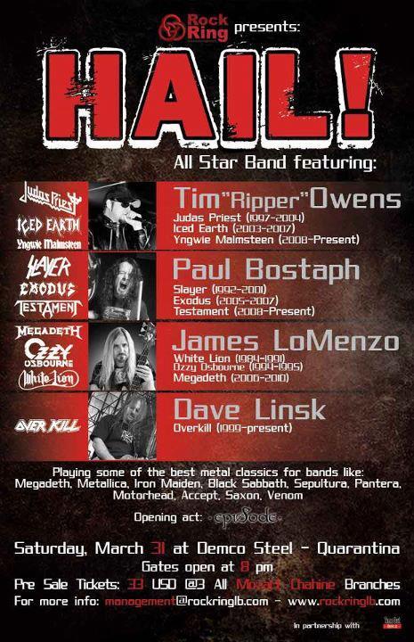 Un cartel de una presentación de Hail!