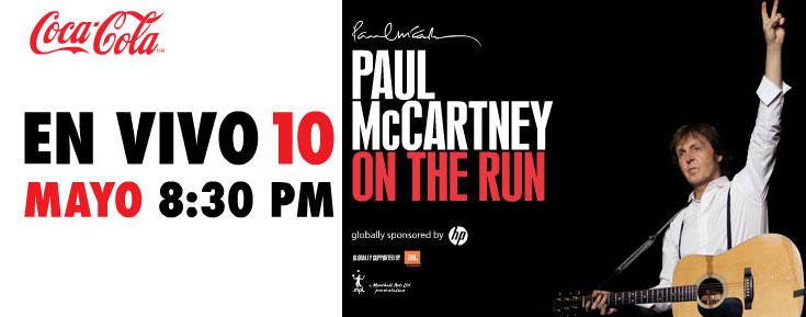 Paul McCartney en México y en vivo por Internet