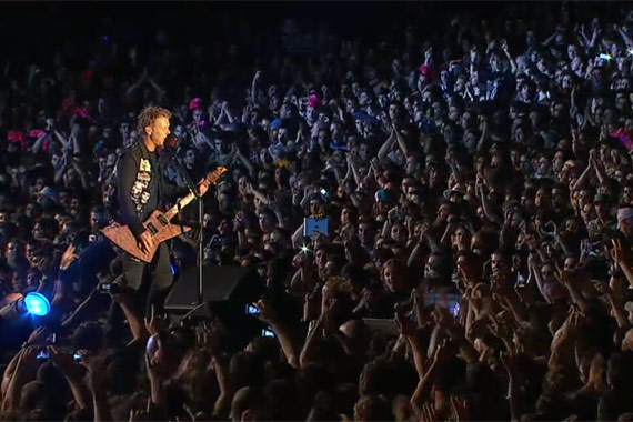 James Hetfield dando todo en Rock in Rio