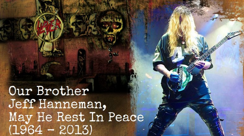 Slayer lamenta la muerte de su hermano guitarrista Jeff Hanneman