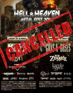 Cartel del Hell & Heaven Fest solo será una anécdota