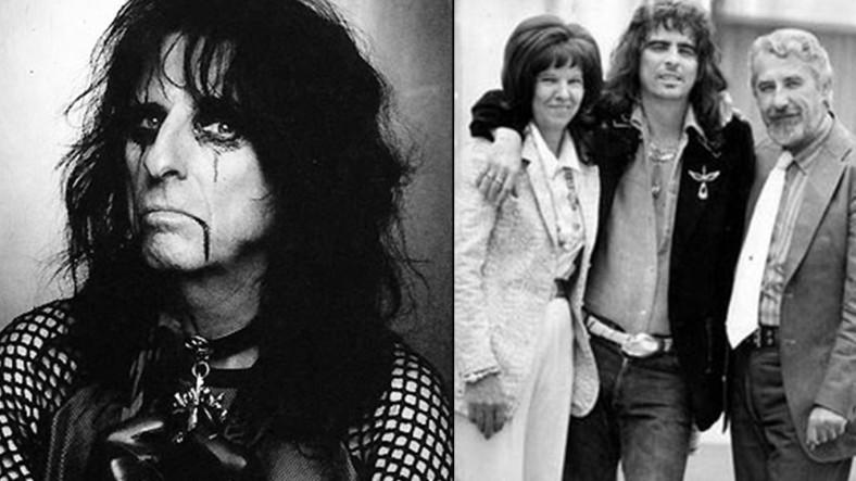 Alice Cooper con sus respetables padres