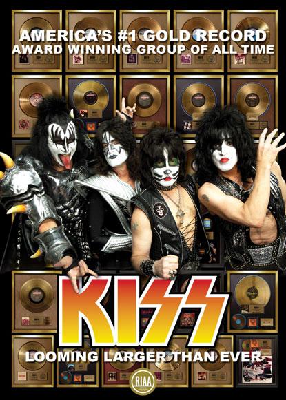 Kiss es la banda americana número 1 en discos de oro en EU