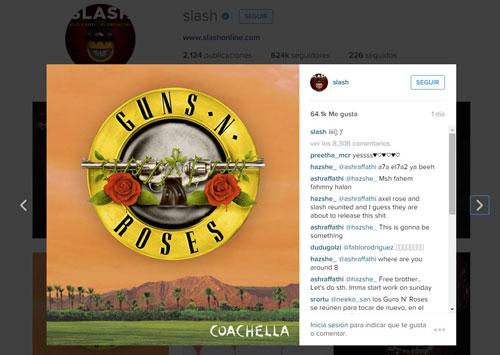 Slash se integra nuevamente a Guns N' Roses