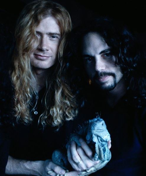 Dave Mustaine junto a Nick Menza